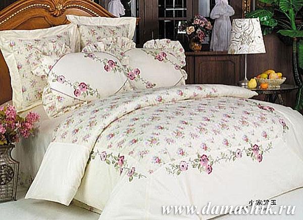 Постельное белье сатин с вышивкой двуспальный размер D29, купить Постельное белье (Сатин с вышивкой), интернет-магазин
