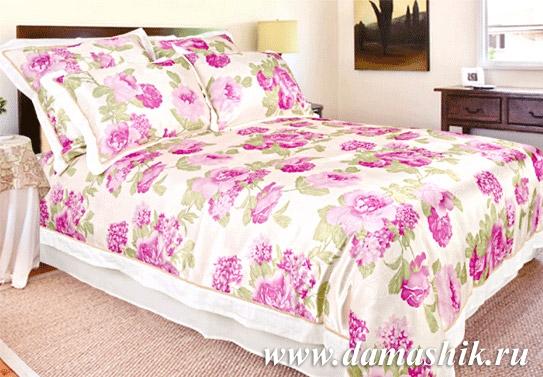 Постельное бельё с цветами